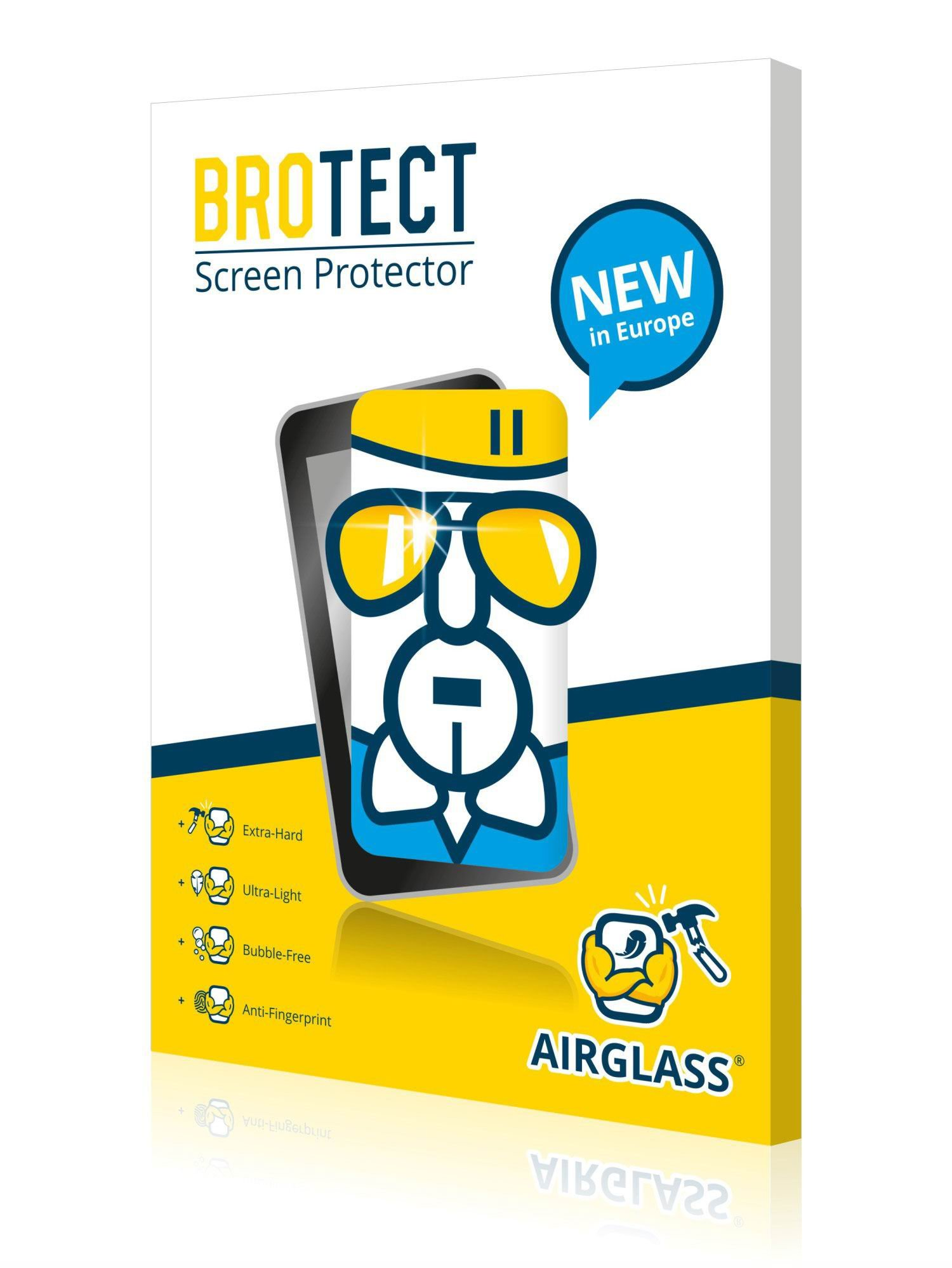 BROTECT AirGlass Glass screen protector for Peugeot Connect Media Navigation NG4 3-D Traveller, Extra-Hard, Ultra-Light, screen guard