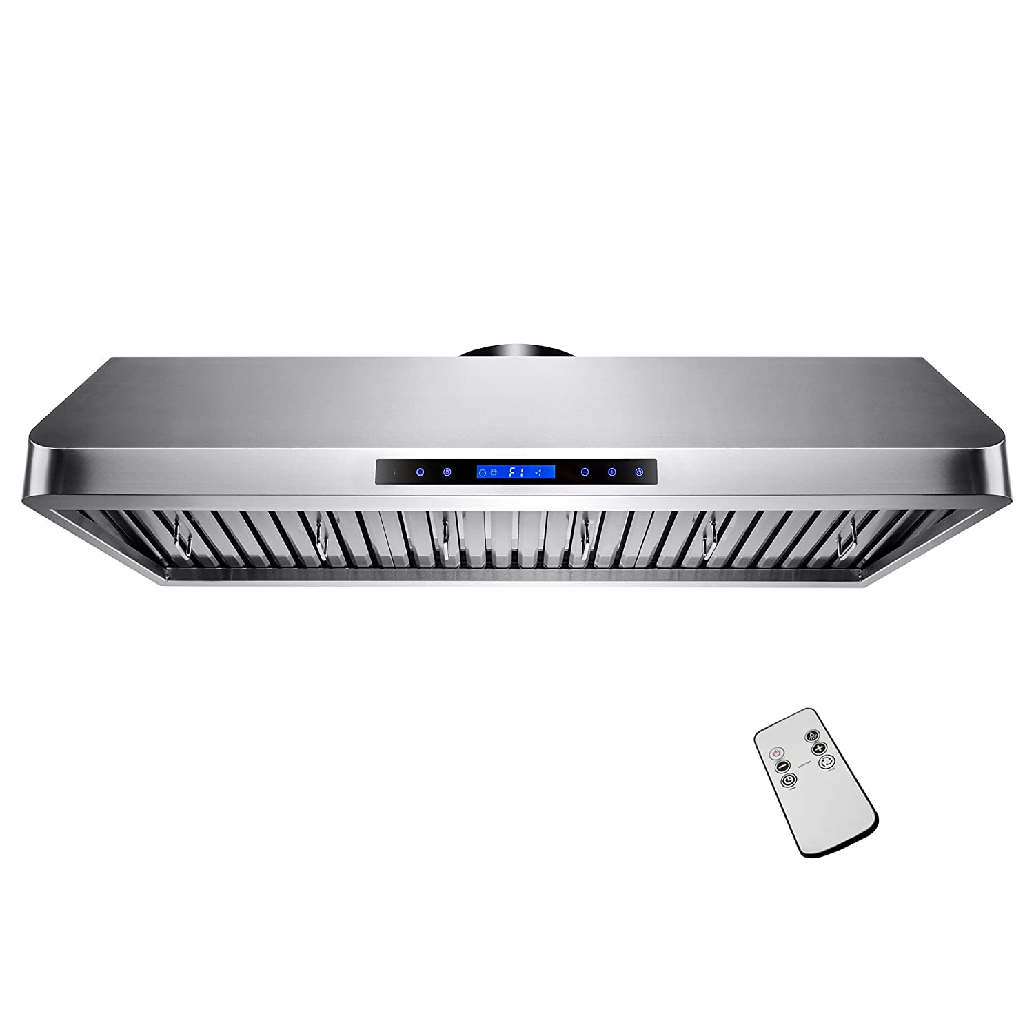 "AKDY 48"" Under Cabinet Kitchen Cooking Vent LED Touch Control Stainless Steel Range Hood"