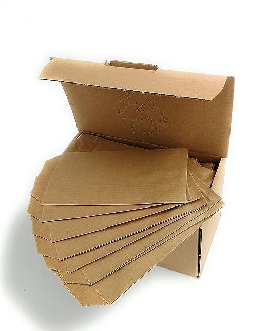 250 sobres bolsas de papel kraft 7 x 12 cm para su comercio, presentar bisuteria, complementos
