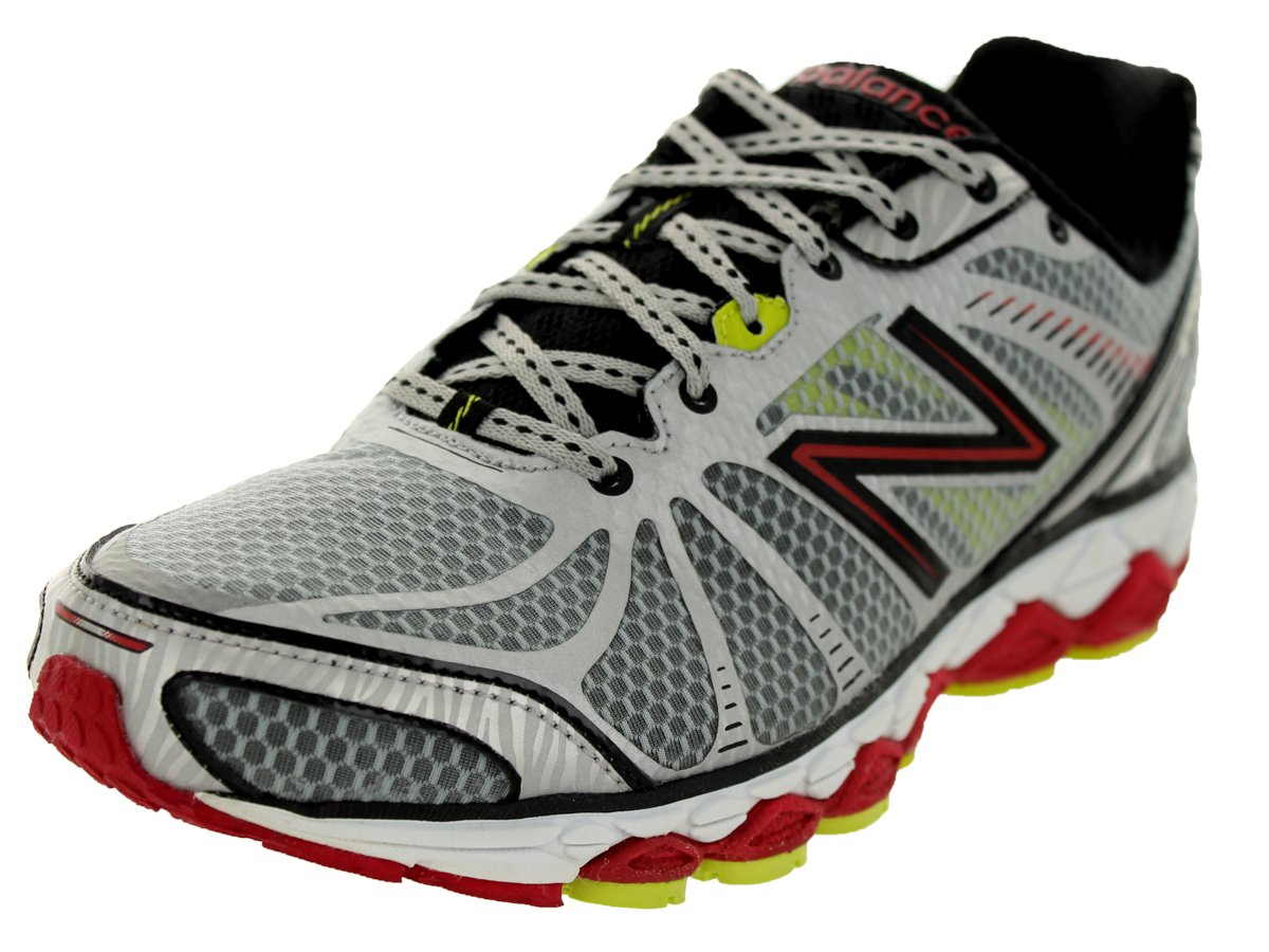 New Balance - Mens 880v3 Cushioning Running Shoes B00D8JAWQC 9 D(M) US|Metallic Silver/Red