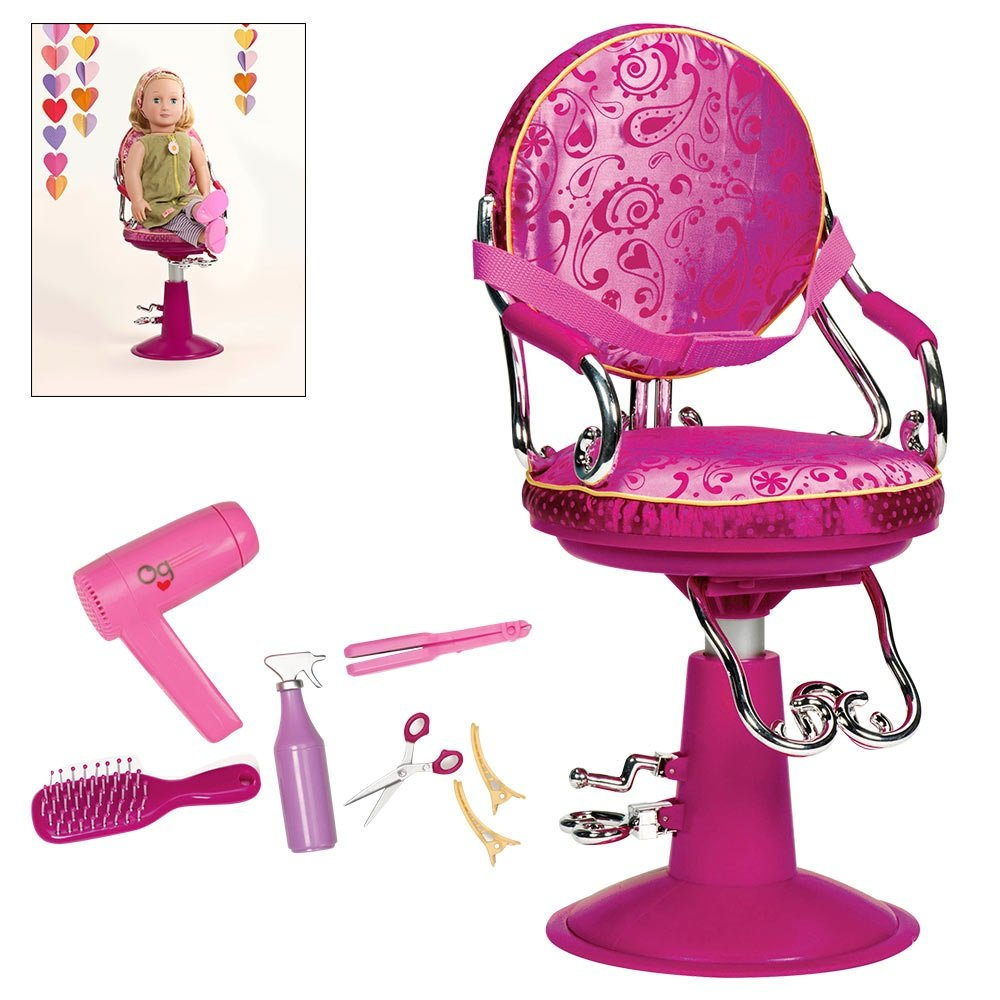 Amazon.com Our Generation Sitting Pretty Salon Chair (Hot Pink) Toys u0026 Games  sc 1 st  Amazon.com & Amazon.com: Our Generation Sitting Pretty Salon Chair (Hot Pink ...