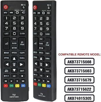 Mando a distancia compatible con LG AKB73715603 (LCD/LED/TV), aplicable AKB73715608 AKB73715603 AKB73715679 AKB73715622 AKB74915305: Amazon.es: Electrónica