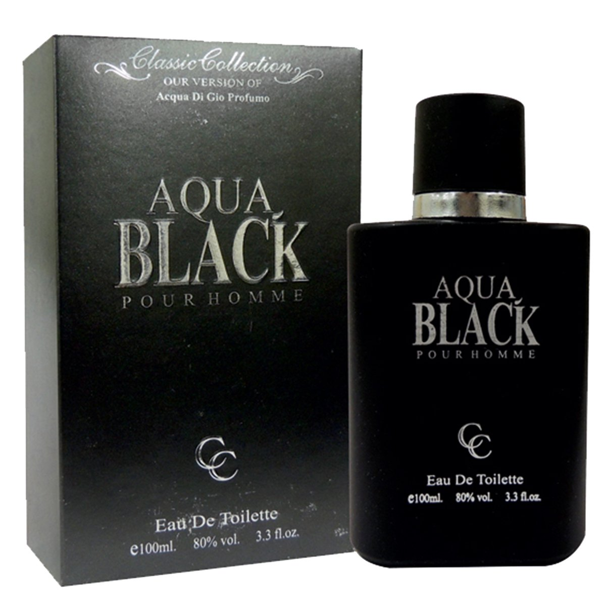 Amazon.com : Aqua Black GIO Profumo Perfume For Him 3.3 oz Eau de Toilette (Imitation) : Beauty