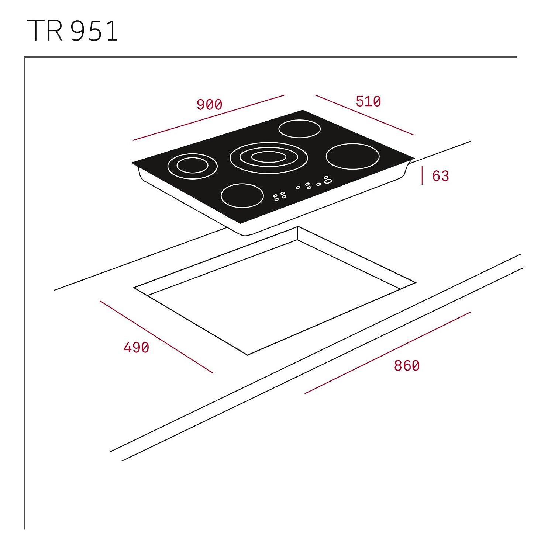 Teka TR 951 - Placa Vitrocerámica Tr951 Con High Light