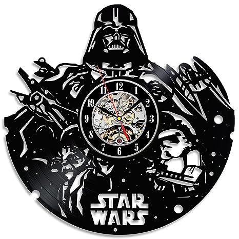 Amazon.com: Star Wars Vinyl Record reloj de pared negra ...