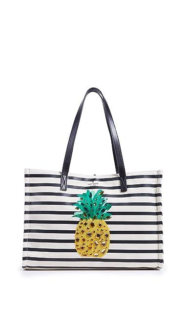 35627afec Amazon.com: Kate Spade New York Women's Canvas Pineapple Mega Sam Tote,  Multi, One Size: Shoes