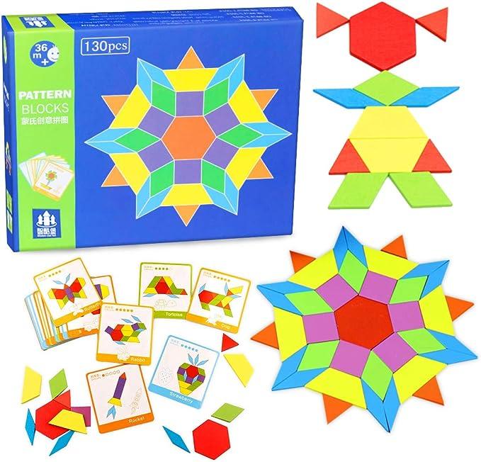 Childking Tangrams Montessori Juguetes educativos para ni/ños en Edad Preescolar