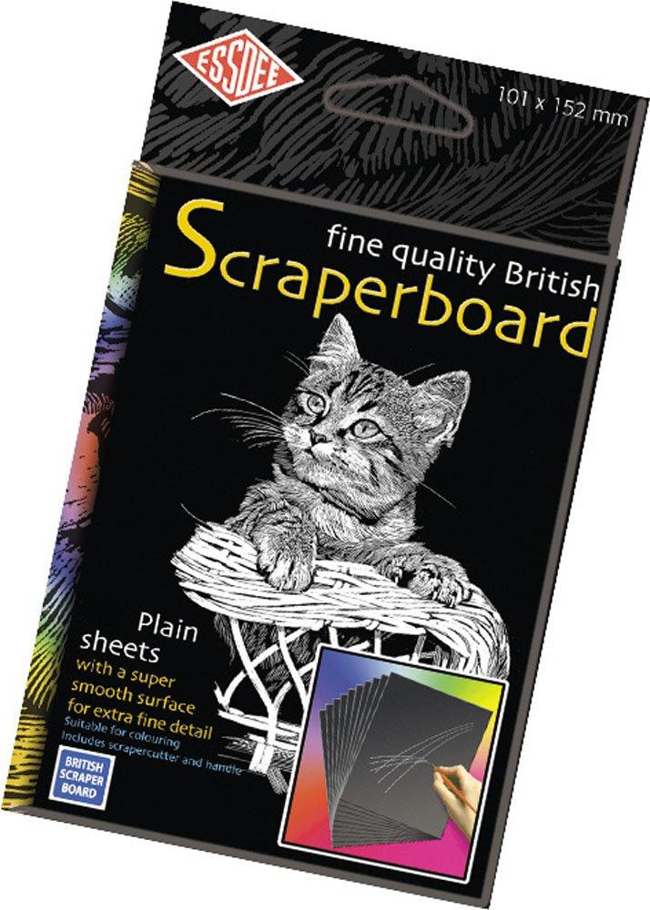 Essdee Bristish Scraperboard 152 x 101 mm, confezione da 5 fogli CSBB1-5