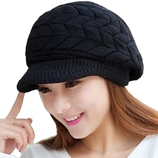 65ebc9174be Image Unavailable. Image not available for. Color  Loritta Womens Winter  Warm Knitted Hats Slouchy Wool Beanie ...