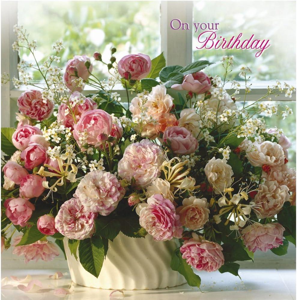 abbastanza floreale di auguri di compleanno – peonie rosa: Amazon.it UJ29
