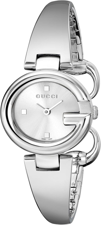 "Gucci Guccissima"" Stainless Steel Bangle Women's Watch(Model:YA134502)"