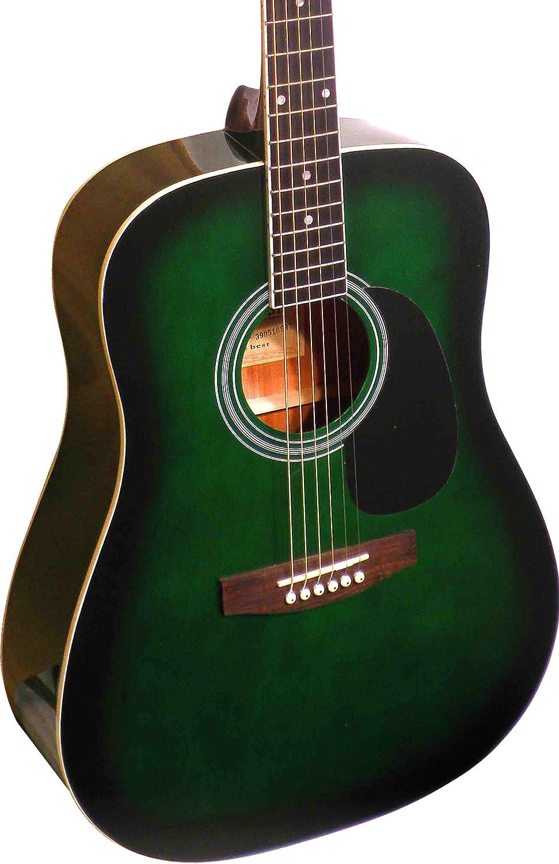 guitare acoustique verte