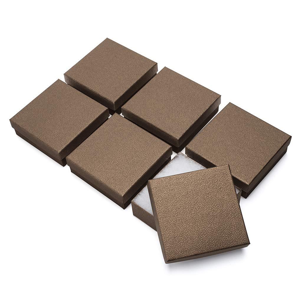 MESHA Jewelry Gift Boxes Upgrade 3.5x3.5x1.25 (Black) MS-45