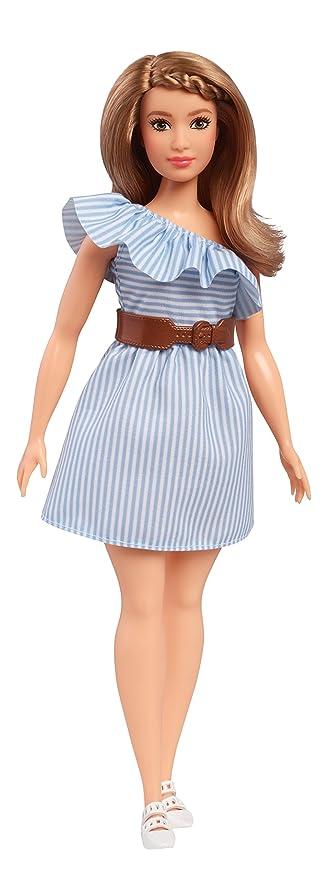 Amazon.es: Barbie Fashionista, Muñeca Purely Pinstriped, Juguete +7 años (Mattel FJF41): Juguetes y juegos