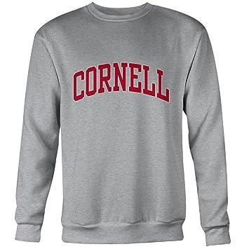 Universidad de Cornell sudadera por ivysport - Classic Logo, 80% algodón/20% poliéster, gris, cuello redondo sudadera: Amazon.es: Deportes y aire libre
