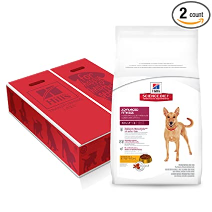 Hills Science Diet Adult Advanced Fitness Dog Food, Chicken & Barley Dry Dog Food,