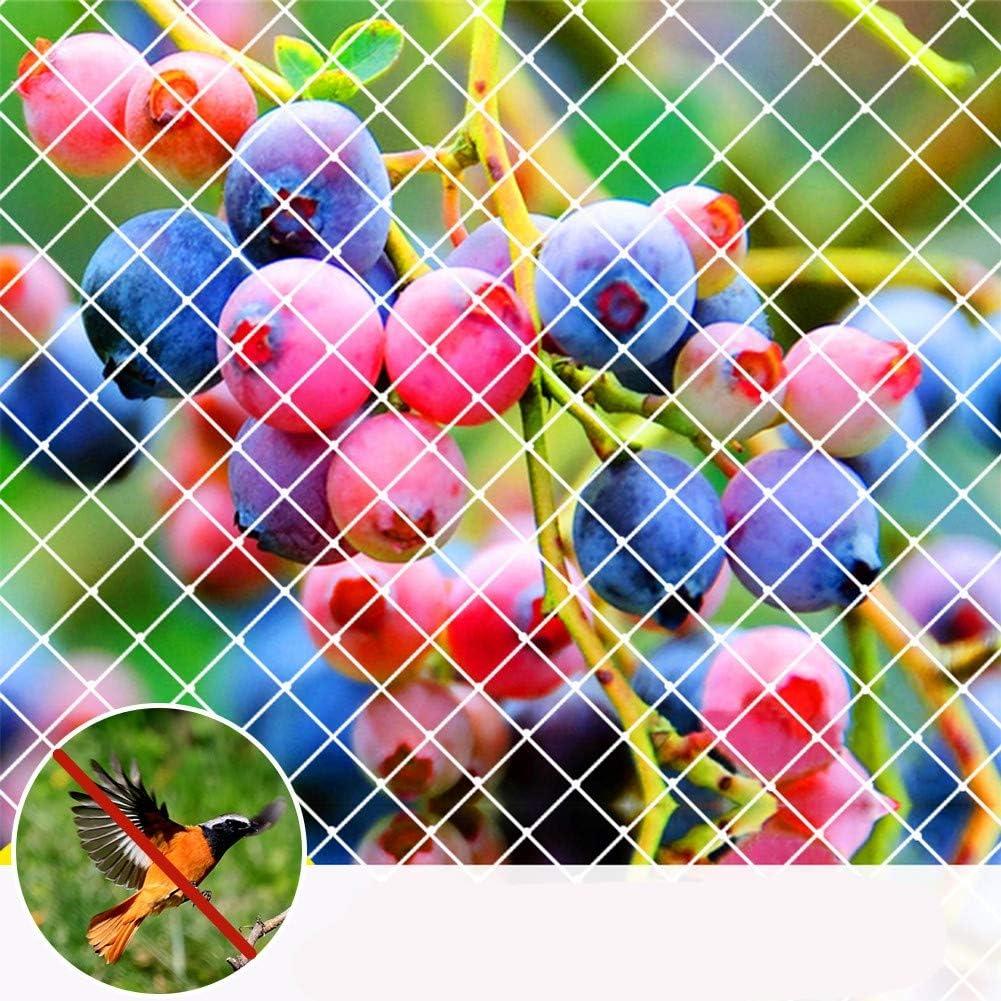 Agfabric Garden Bird Netting Anti Bird Protection Net Fruit Vegetables Flower Garden Pond Netting, 10x36ft, White