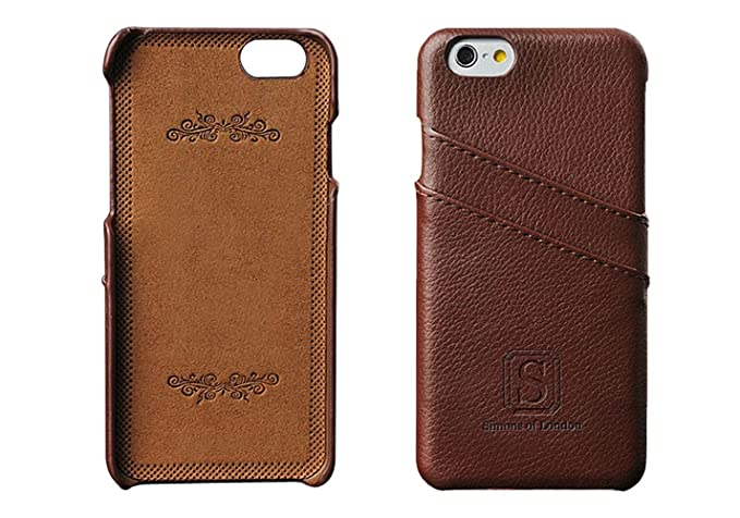 newest b3726 e8ad2 Simons of London iPhone 6/6s Luxury Leather Case with Slots for ID/Bank  Cards | Ultra Slim Fit Cases