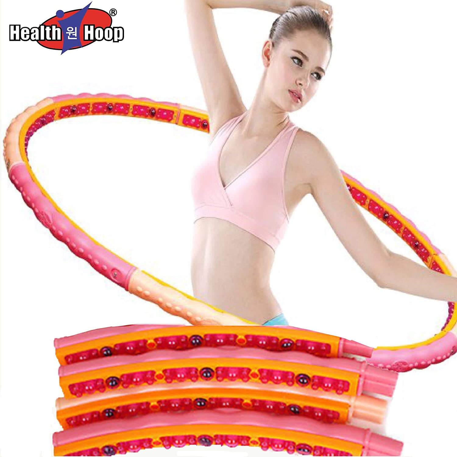 Health Hoola Hula Hoop Magnetic DynamicWeighted Diet Fitness2.5kg5.5lb Exercise