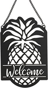 The Bridge Collection 'Welcome' Metal Pineapple Garden Flag