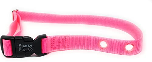 Sparky Pet 3 4 Universal Nylon Dog Fence PetSafe Dogtra SportDog E Collar Perimeter 2 Hole 1.25 Compatible Collars