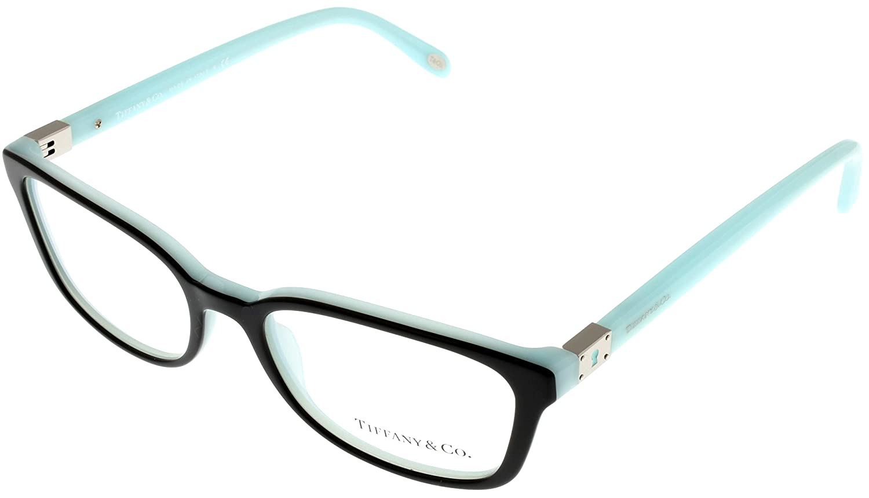 0aaae665f519 Tiffany   Co. Women Eyeglasses Designer Black Rectangular TF2094 8055   Amazon.co.uk  Clothing