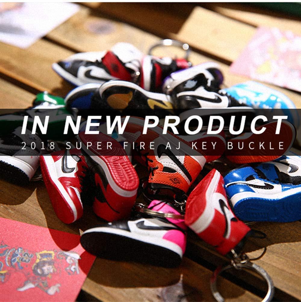 AJ1-20 Mini sneaker 3D porte-cl/és avec bo/îte cadeau de No/ël 1001
