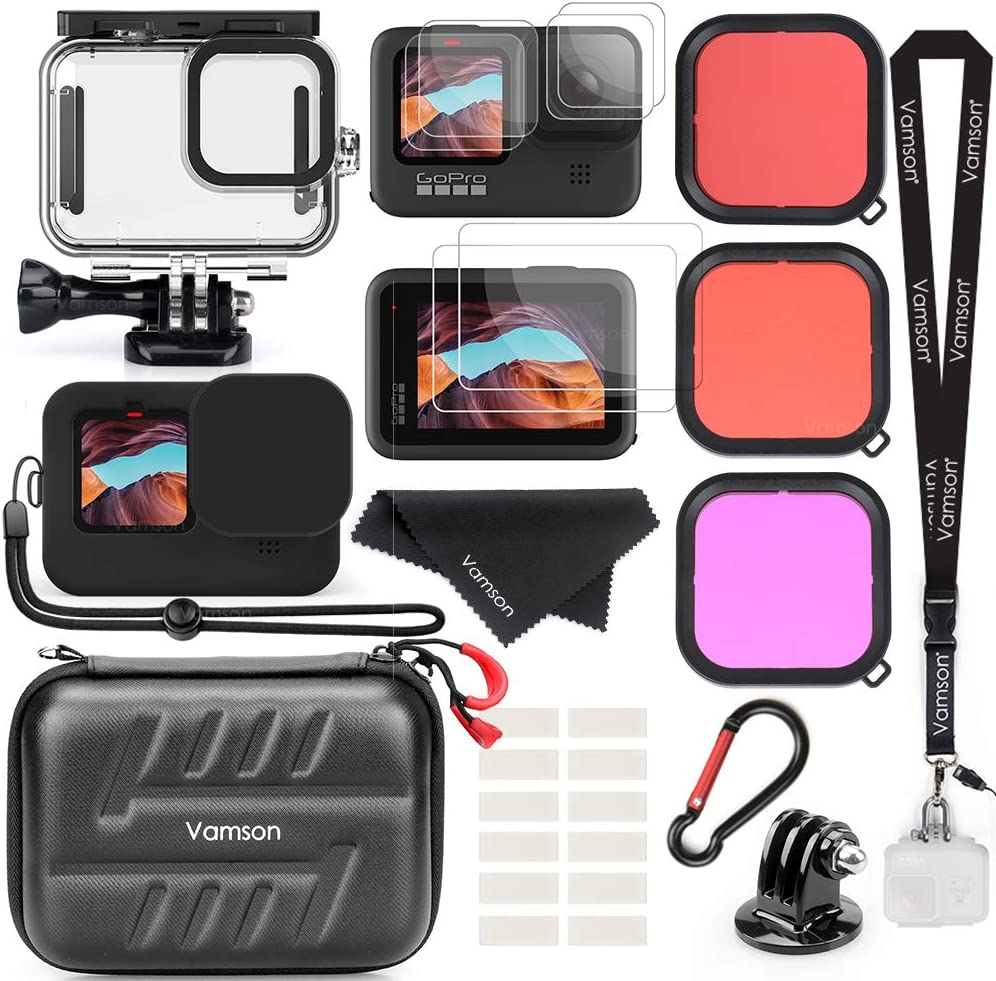 kit Gopro Hero 9 Black caja Waterproof + vidrio teplado +...