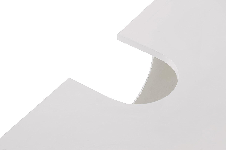 Premier Housewares Mobile sottolavello per bagno con due ante 60 x ...
