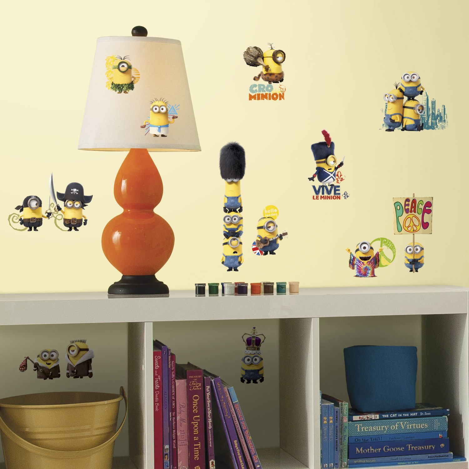 Minion Bedroom Wallpaper Amazoncom Minions Movie 16 Big Wall Decals Despicable Me Room