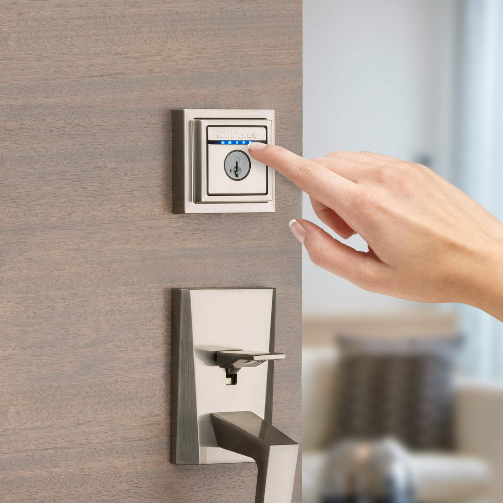 Kwikset 99250-206 Kevo 2nd Gen Contemporary Square Single Cylinder Touch-to-Open Bluetooth Deadbolt Satin Nickel by Kwikset (Image #6)