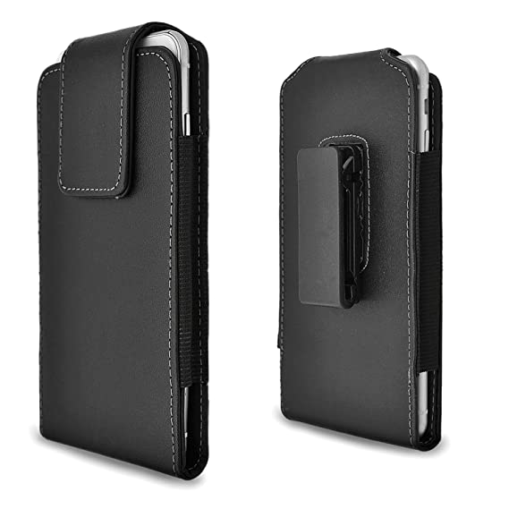 low priced 402de fad42 iPhone 6s Plus Holster Case, Gcepls iPhone 7 Plus Premium Leather Holster  Belt Case with Clip / Loops Belt Pouch Holder Cover with Built in Card Slot  ...