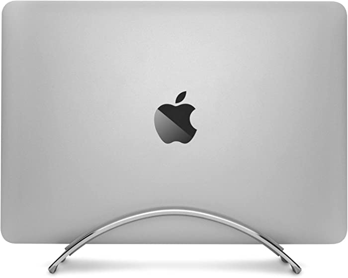Twelve South BookArc for MacBook | Space-Saving Vertical Desktop Stand for Apple notebooks (Silver) Newest Version
