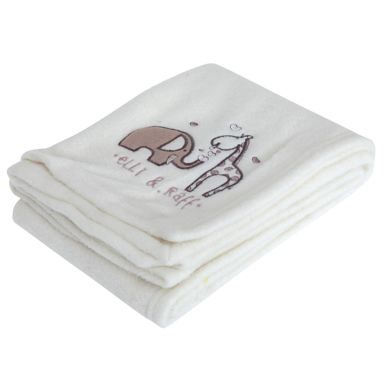 Elli /& Raff Fleece Baby Shawl Blanket Cream