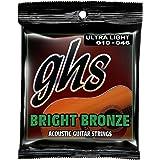GHS Strings BB10U Bright Bronze, 80/20 Copper-Zinc Alloy, Acoustic Guitar Strings, Ultra Light (.010-.046)