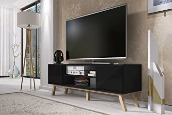 Vero Wood – Mueble TV Moderno / Mesa para TV (150 cm, Negro ...