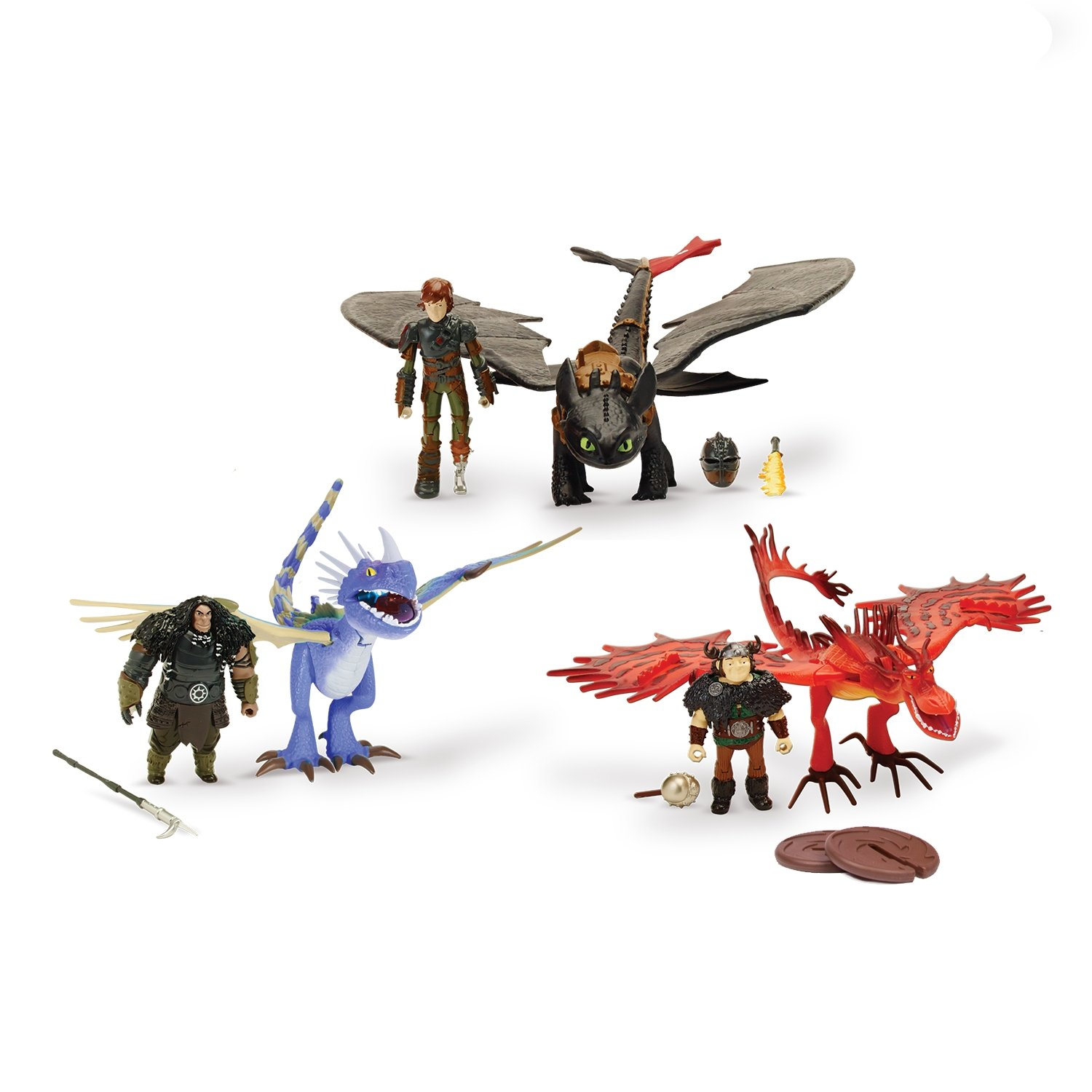 Spin Master How to Train Your Dragon 2 Ultimate Dragon Heroes Team Set Exclusive 6023191