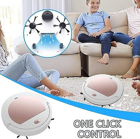 Pannelli di Legno Una Variet/à di Pavimenti Marmi Piastrelle Rosa IJONDA Geeky Spazzare Robot Tre in Uno Intelligente Spazzare Robot Aspirapolvere Ricaricabile Asciutto Silenzioso