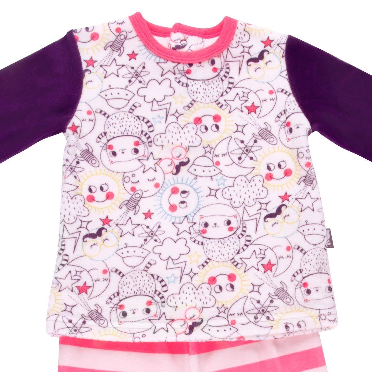 45e702078fc04 Pyjama bébé 2 pièces velours avec pieds Rêveuse - Taille - 6 mois (68 cm
