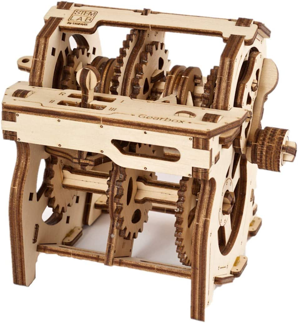UGEARS Stem Lab Puzzle 3D - Kit CTIM de Modelo de Caja de Cambios -maquetas para Montar Adultos - Kits de construcción 3D Incluye aplicación móvil - el Juguete Educativo Stem para Adultos y niños 8+