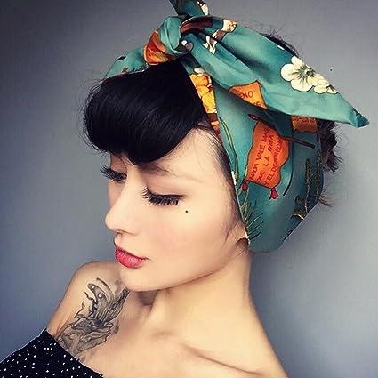 Jovono Fashion Headbands American stampa coniglio orecchio fascia per  capelli per donne e ragazze 337ecac9da12
