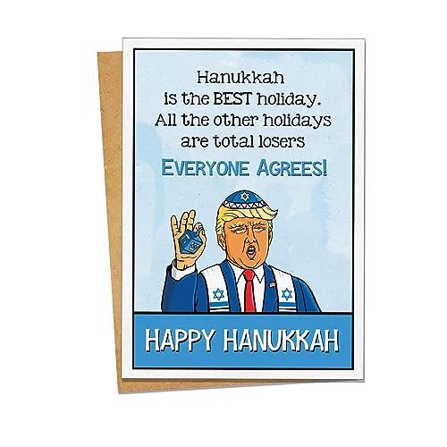 Blue and White Hanukkah Card Happy Hanukkah Card