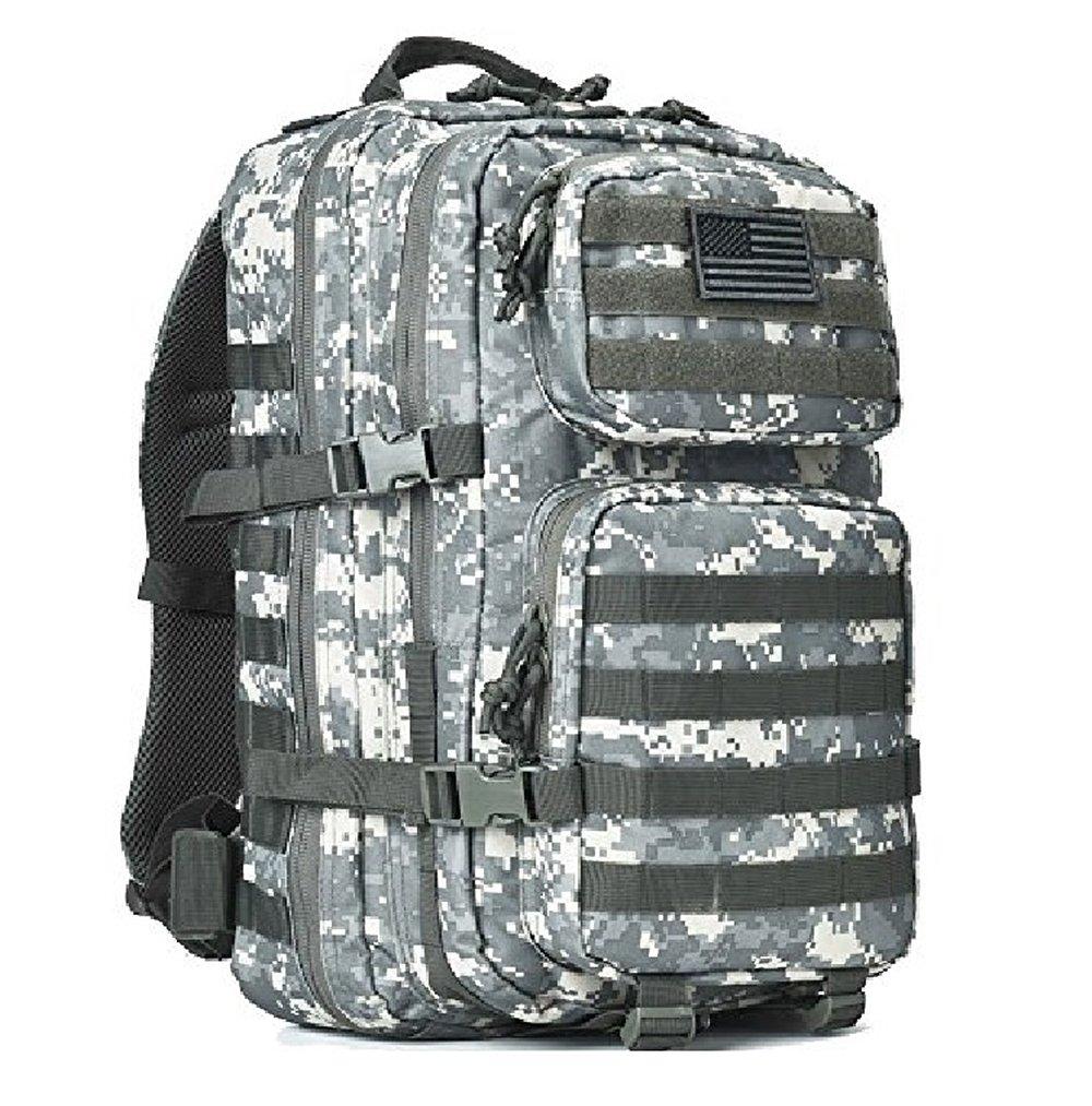 ミリタリータクティカルバックパックSmall Assault Pack Army MOLLEバグアウトバッグバックパック B07875LM18 Large|ミリタリーグリーン ミリタリーグリーン Large