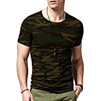 Veirdo Men's Cotton T-Shirt Plain White Casual