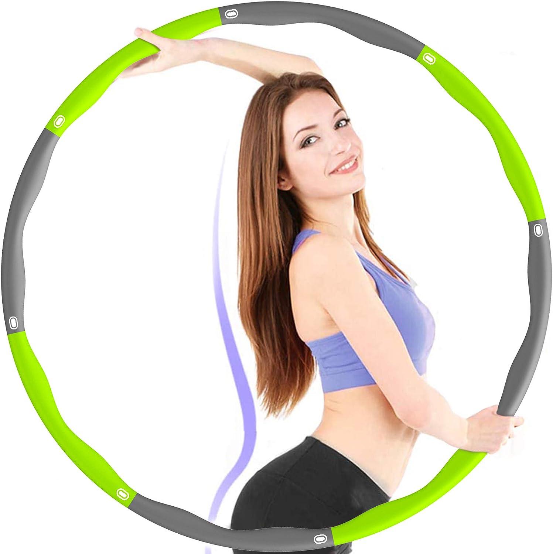 JTMM Hula Hoop Abnehmbare einstellbare Gr/ö/ße 24 Abschnitte Einstellbare Trainingsger/äte f/ür die Fettverbrennung die mit Einer 360-Grad-Massagefunktion Nicht herunterf/ällt