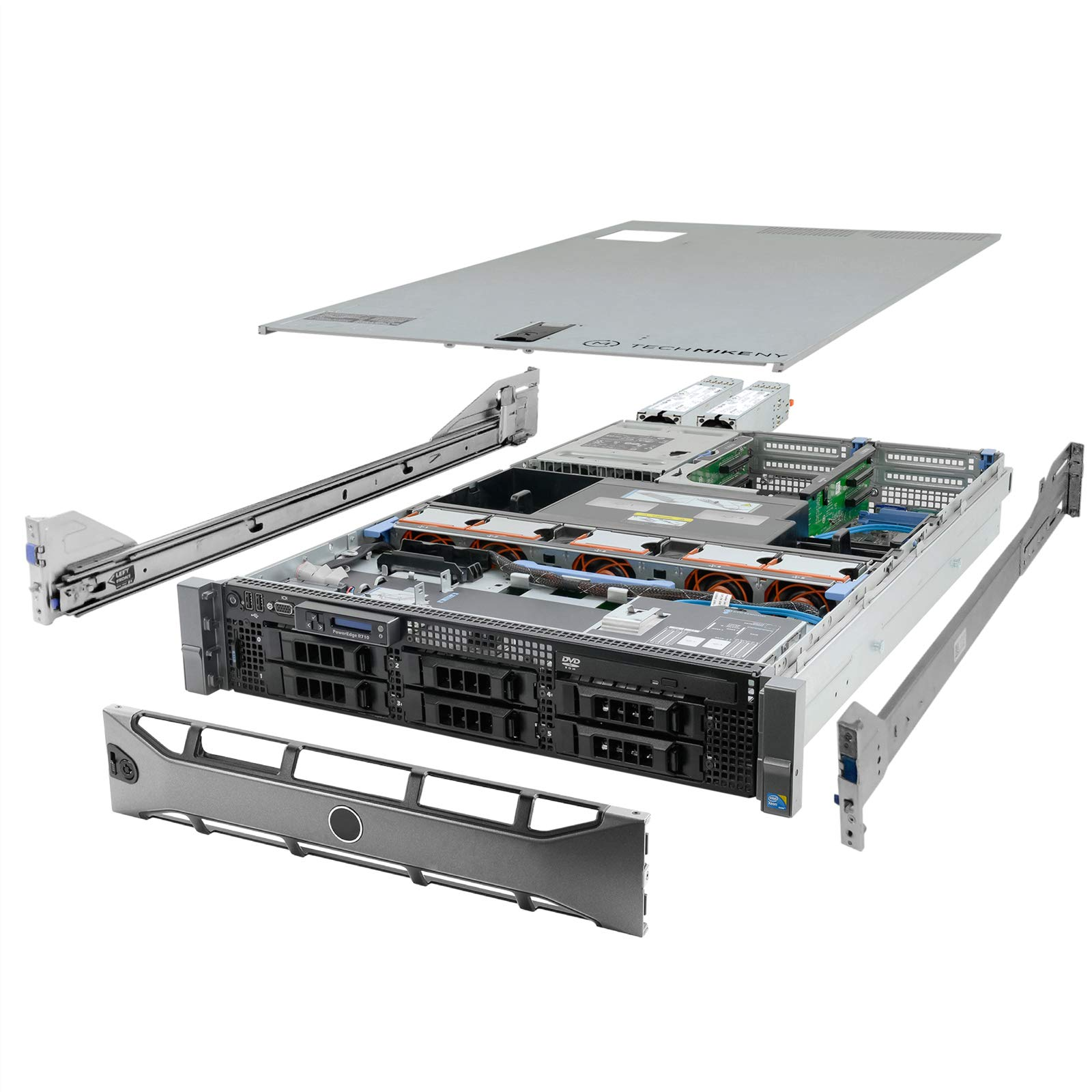 High-End Virtualization Server 12-Core 128GB RAM 12TB RAID Dell PowerEdge R710 Bezel and Rails (Renewed) by Dell