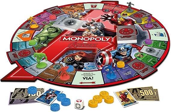Hasbro Monopoly - Juego de Mesa con diseño Avengers (versión en Italiano): Amazon.es: Juguetes y juegos
