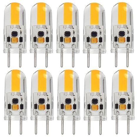 MENGS® 10 Stück GY6.35 COB LED Lampe 3W AC/DC 12V Warmweiß 3000K Mit Silikon Mantel