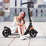 kids/Adult Scooter with 3 Seconds Easy-Folding System, 220lb Folding Adjustable Scooter with Disc Brake and 200mm Large Wheel