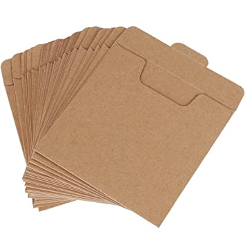 Amazon.com: Vastar 30 Packs CD Sleeves Kraft Paper DVD Envelopes ...